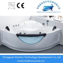 Acrylic massage bathtub with fiberglass