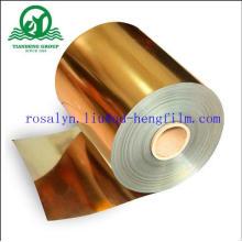 Película de PVC Metálico com Ouro e Prata para Bandeja de Buscuit