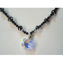 2015 moda quente venda colar de pingente de cristal grânulo