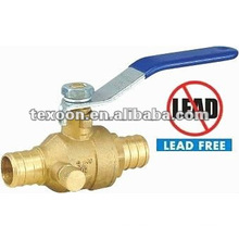lead free Pex brass drain ball valves for gas, water, oil Texoon