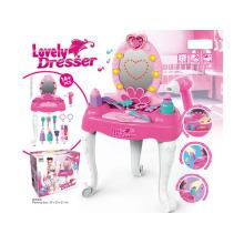 Mädchen vorgeben Schönheit Spielzeug Plastic Dresser Set Spielzeug (h5931060)
