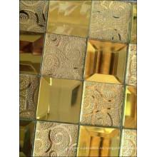 Mosaico de espejo de diamante Mosaico de oro (HD065)