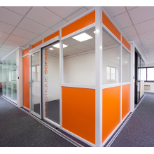 aluminium half glass office workstation partition