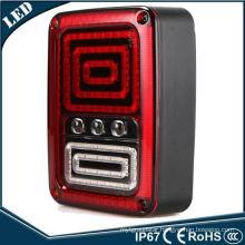 for Jeep Wrangler Rubicon LED Tail Light Run Turn Reverse Brake Light Jk LED Rear Lamp