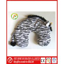 Almohada de cojín del cuello del juguete de la cebra del juguete de la felpa