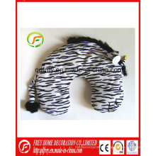 Plush Zebra Toy Traveling Neck Cushion Pillow