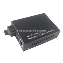 10 / 100M Fibra Simple 1310 / 1550nm 80 km PoE Media Converter, 10 / 100Base-T (X) a 100Base-FX Fast Ethernet POE Converter