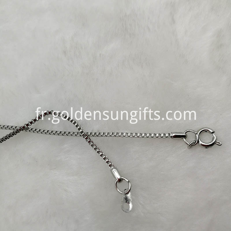 4MM 18KGP Lattice Chain Necklace