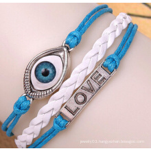 Evil Eye Leather Thread Alloy Pendant (XBL13501)