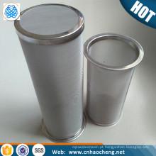 Food Grade 100 malha 150 mícron de Aço Inoxidável Cold Brew Café e Chá Filtro Cesta / Infusor