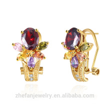 jewelry zhefan mini order Dubai gold plated jewelry color women accessories earrings