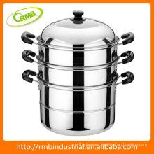 Three layers steamer pot