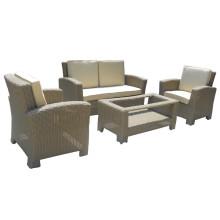 Conjunto de sofá vime jardim pátio Lounge ao ar livre mobiliário