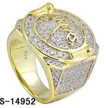 Anillo de plata de ley 925 de Hip Hop Jewelry