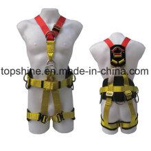 Poliéster ajustable profesional de seguridad de seguridad Industrial de cuerpo completo Cinturón de seguridad