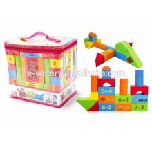74 pcs bricolage bâtiment bloc mousse EVA Building Block enfants blocs de construction