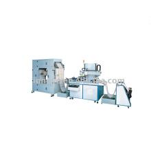 Máquina de impressão de tela de material de carregamento de rolo