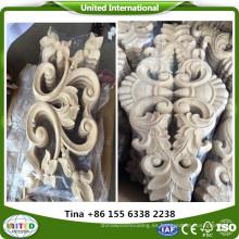 Apliques y onlays de madera decorativos.