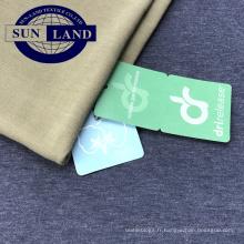 T-shirt de sport absorbant l'humidité en tissu de jersey simple en polyester tricoté polyester TC 30