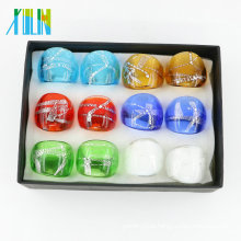 New Design Pure Color Lampwork Glass Rings Made by Hand12pcs/box , MC1008