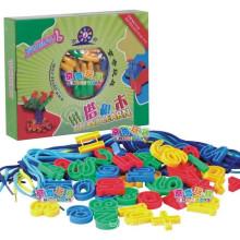 SGS EN 71 Детская цифровая резьба и шнуровка блок игрушка