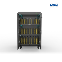 Tablets and Laptop storage charging cart in school