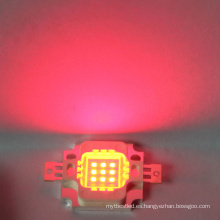 6-7V 10w chip LED rojo integrado de alta potencia LED Bead