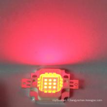 Perle menée rouge de la puissance élevée LED de la puce 6-7V 10w intégrée