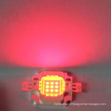 Grânulo integrado conduzido vermelho do diodo emissor de luz do poder superior de 6-7V 10w microplaqueta