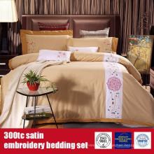 100% Baumwolle 300TC Stickerei Hotel Luxus Bettwäsche-Set