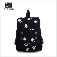 Mochila de pano com estampa de flores / mochila simples personalizada / faça sua própria mochila