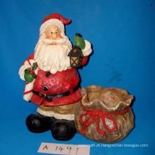 Antique Santa with Candy Holder para Decoração de Natal