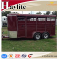 Durable deluxe 3 angle load horse float with living area