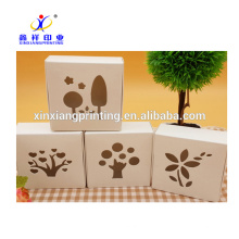 Hollowed-out Handmade Kraft Cardboard Soap Packaging Box Custom Logo
