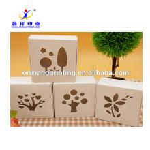 Выдолбленные ручной работы Крафт-бумага коробки мыла картона Упаковывая изготовленный на заказ Логос