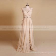 Robe de mariée en mousseline de soie en mousseline de soie Style Style V avec ceinture détachable