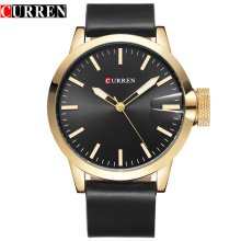 custom logo mininalist quartz watch alloy business wristwatch for men