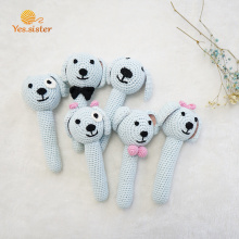 Handmade Amigurumi Dog Crochet Baby Rattle Ring
