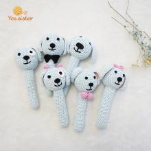 Amigurumi Handmade Dog Crochet bebê chocalho anel