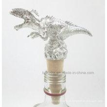 Newly Design rolha de garrafa de vinho Dinosaur único, rolha de vinho de madeira sólida