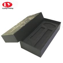 black unique wrist watch box with foam