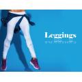 Fábrica OEM Personalizado Plissado Branco Fitness Mulheres Yoga Leggings Calças Esportivas com Malha