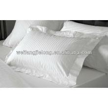 tissu de rayure de satin de coton de percale pour l'ensemble de feuille d'hôtel - 1cm