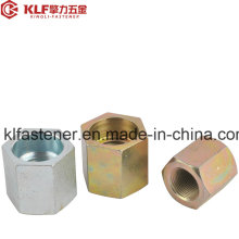 Carbon Steel Long Hex Coupling Nuts DIN 6334