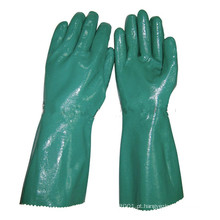 Luvas nitrílicas industriais NMSAFETY para serviço pesado