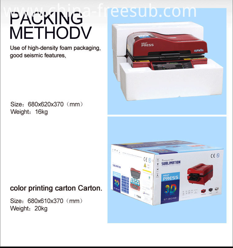 FREESUB Sublimation Heat Press T Shirt Printing Machines For Sale