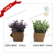 Artificial PE Green planta Bonsai para la decoración del hogar