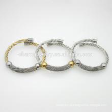 2016 personalizado ajustável jóias pulseira de aço inoxidável de moda GSL007