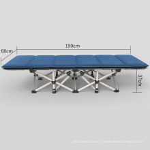 Lightweight Portable Single Extra Solid Camping Beach Guest Small Cot Metal Army Military Folding Bed