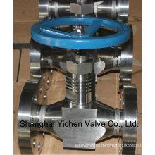 Válvula de aguja con brida (YCZJ44)